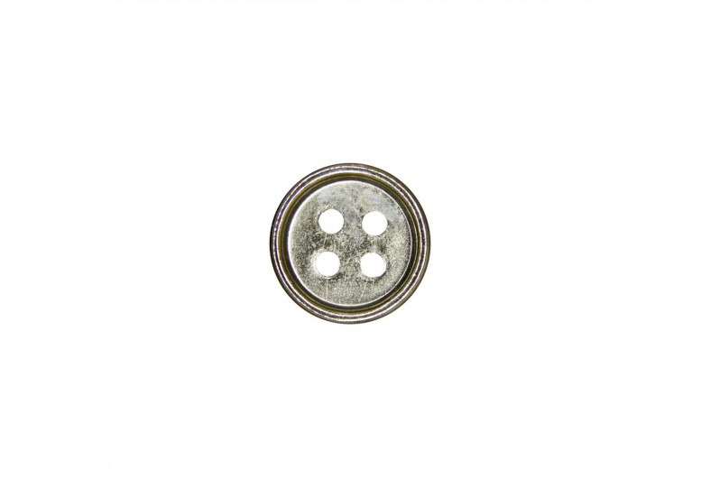 Nikel Metalize Kaplamalı Düğme - 3010